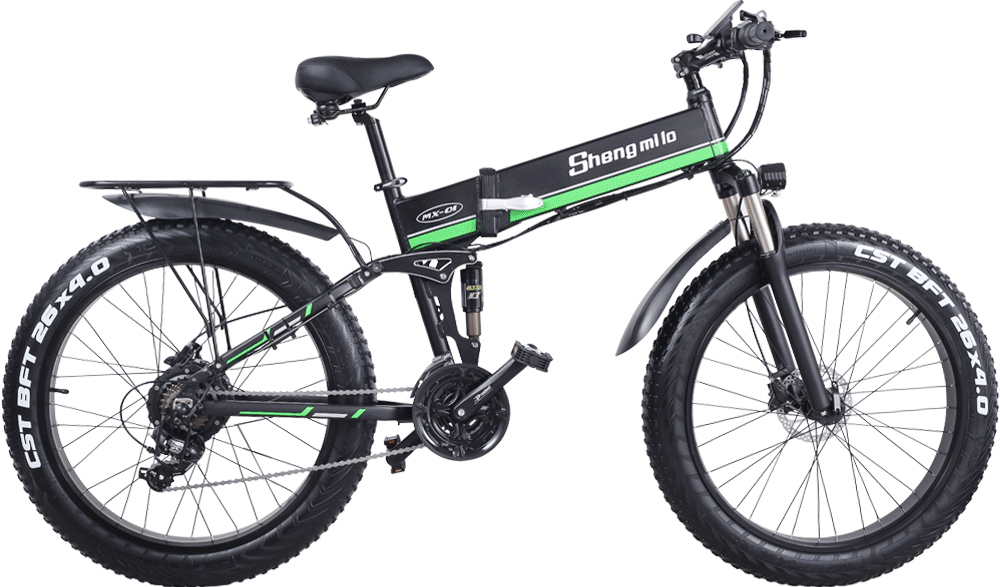 Shengmilo-MX01-Green-electric--folding-bike