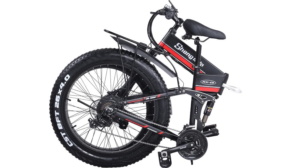 Shengmilo-MX01-Red-electric--folding-bike-folded