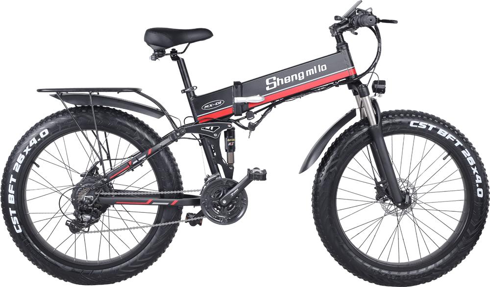 Shengmilo-MX01-Red-electric--folding-bike